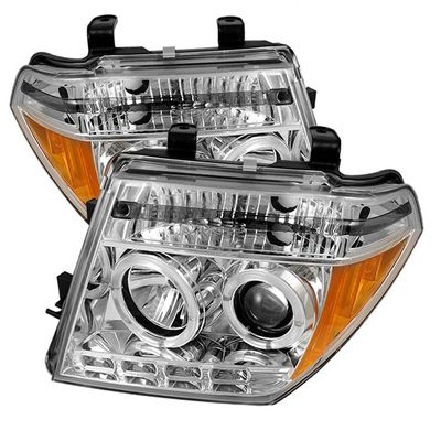 05-08 Nissan Frontier / 05-07 Pathfinder  Halo LED Projector Headlights - Chrome