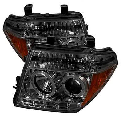 05-08 Nissan Frontier / 05-07 Pathfinder  Halo LED Projector Headlights - Smoked