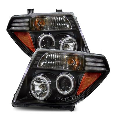 05-08 Nissan Frontier / Pathfinder CCFL Halo Projector Headlights - Black