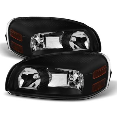 05-09 Chevy Uplander Crystal Replacement Headlights - Black