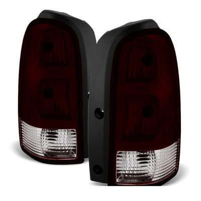 05-09 Chevy Uplander OEM Style Replacement Tail Lights Pair - Smoked