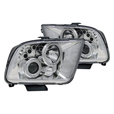 05-09 Ford Mustang (2010+ Style) CCFL Halo Projector Headlights - Chrome