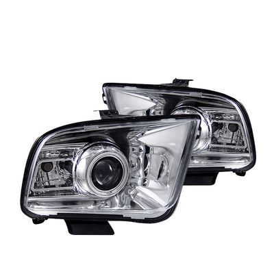 05-09 Ford Mustang Angel Eye Halo Projector Headlights - Chrome