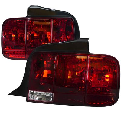 05-09 Ford Mustang (FACELIFT 2010+ SEQUENTIAL STYLE) Euro Style Tail Lights - Red / Clear