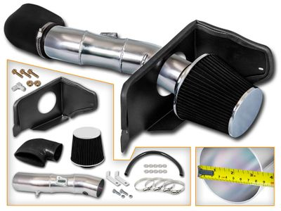 05-09 Ford Mustang GT Model 4.6L V8 Heat Shield Cold Air Intake - Black