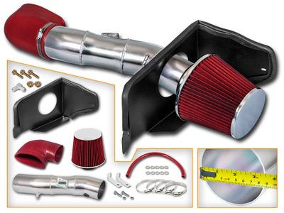 05-09 Ford Mustang GT Model 4.6L V8 Heat Shield Cold Air Intake - Red