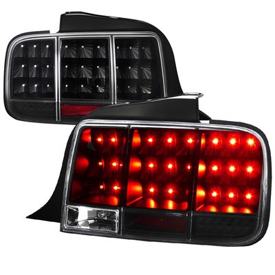 05-09 Ford Mustang LED Sequential Turn Signal LED Tail Lights - Black