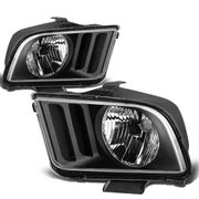05-09 Ford Mustang Replacement Crystal Headlights - Black