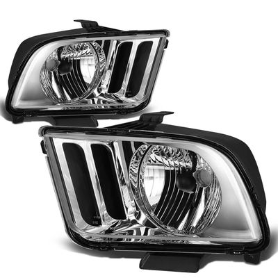 05-09 Ford Mustang Replacement Crystal Headlights - Chrome