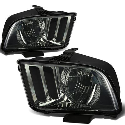 05-09 Ford Mustang Replacement Crystal Headlights - Smoked