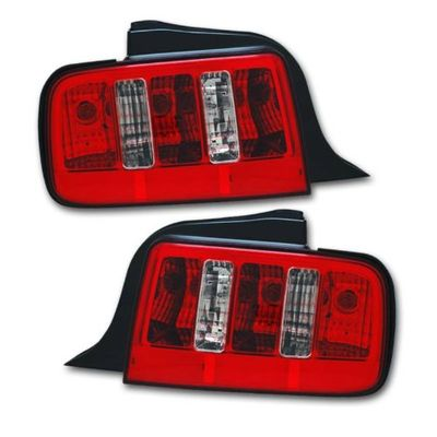 05-09 Ford Mustang Replacement Tail Lights - Red