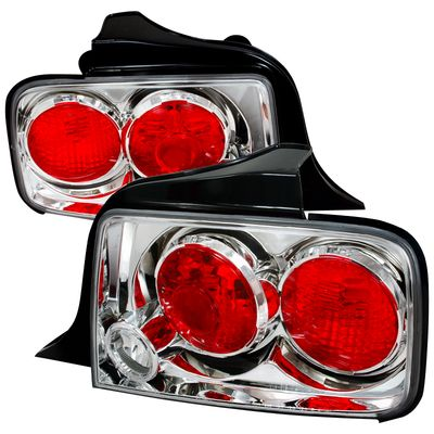 05-09 Ford Mustang Tail Lights - Chrome