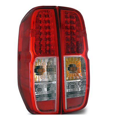 05-09 Nissan Frontier Euro Style LED Tail Lights - Red / Clear