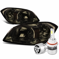 05-10 Chevy Cobalt / 07-09 Pontiac G5 Crystal Headlight (Smoke Lens Amber Reflector)+6000K White LED w/ Fan