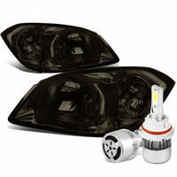 05-10 Chevy Cobalt / 07-09 Pontiac G5 Crystal Headlight (Smoke Lens Clear Reflector)+6000K White LED w/ Fan