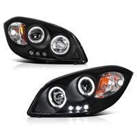 05-10 Chevy Cobalt / G5 / Pursuit Angel Eye Halo Projector Headlights - Black
