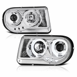 05-10 Chrysler 300C Angel Eye Halo & LED Projector Headlights - Chrome
