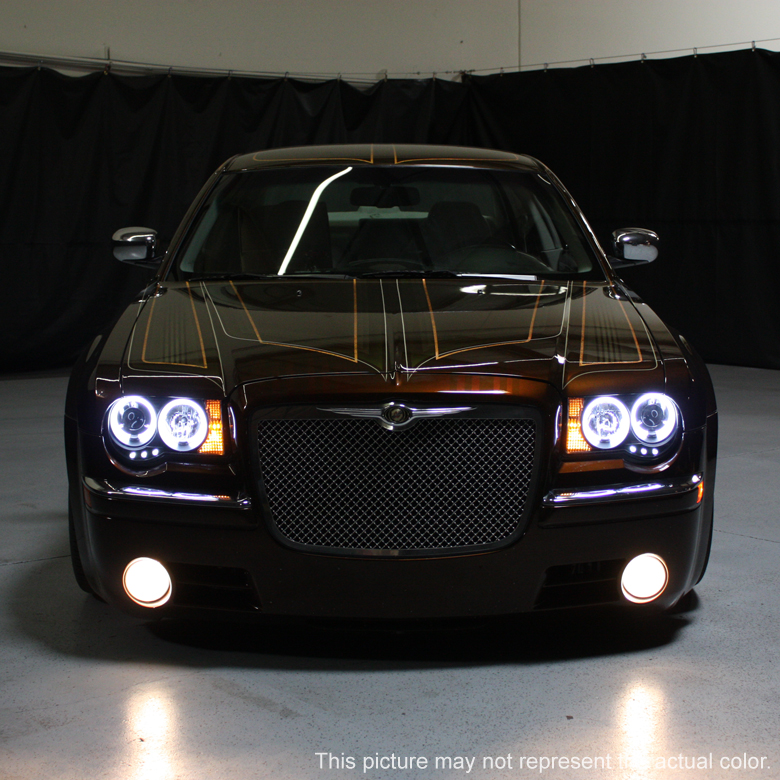 2008 Chrysler 300 For Sale >> 05-10 Chrysler 300C Dual Halo & LED Projector Headlights - Chrome