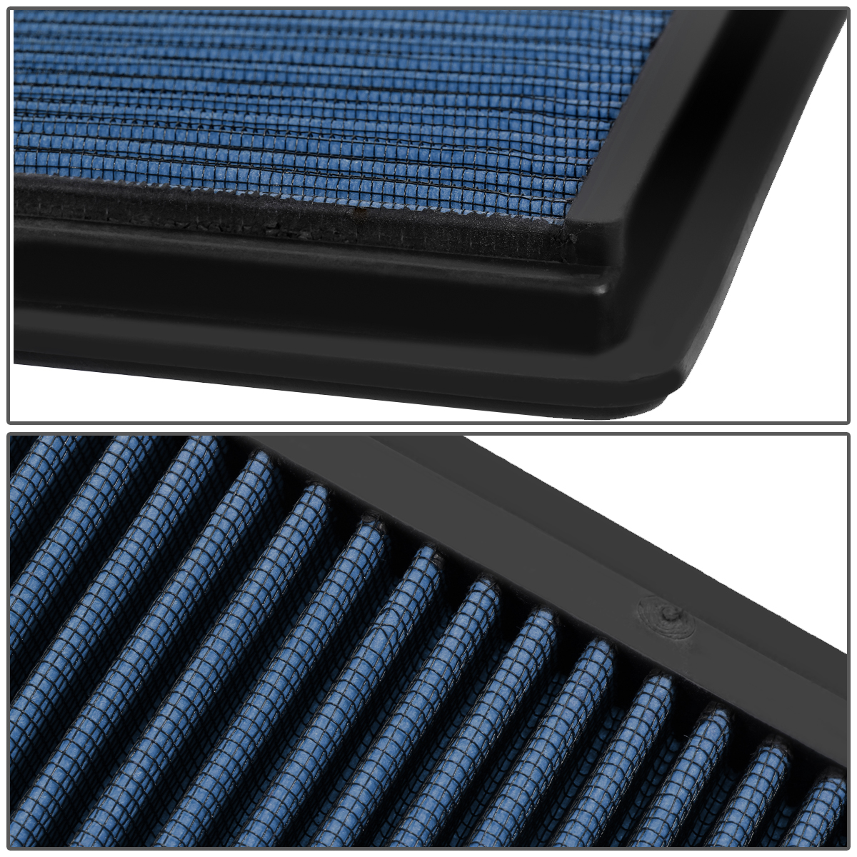 FOR 05-10 MUSTANG GT SHELBY BLUE REUSABLE/&WASHABLE HIGH FLOW PANEL AIR FILTER