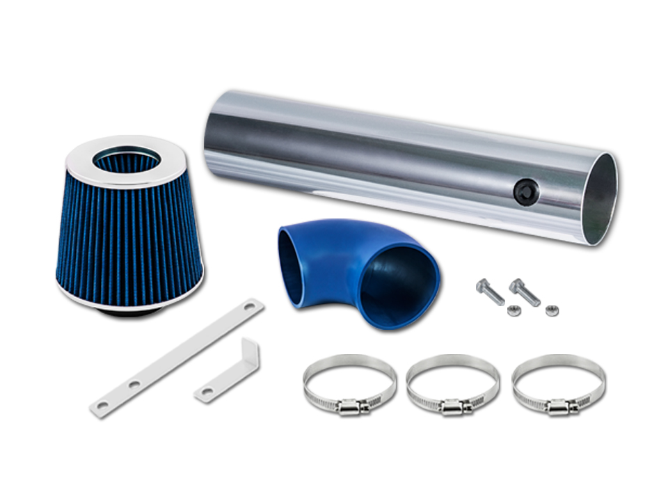 BLUE Short Ram Air Intake Kit Filter For 05-10 Grand Cherokee 5.7L 6.1L V8