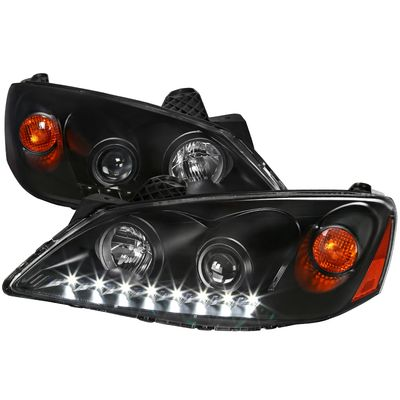 05-10 Pontiac G6 LED DRL Projector Headlights - Black