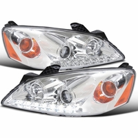 05-10 Pontiac G6 LED DRL Projector Headlights - Chrome