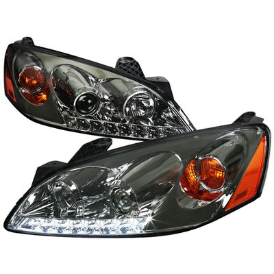 05-10 Pontiac G6 LED DRL Projector Headlights - Smoked