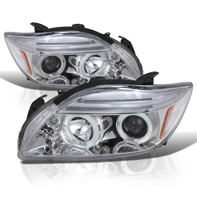 05-07 Scion tC Angel Eye Halo / LED Projector Headlights - Chrome