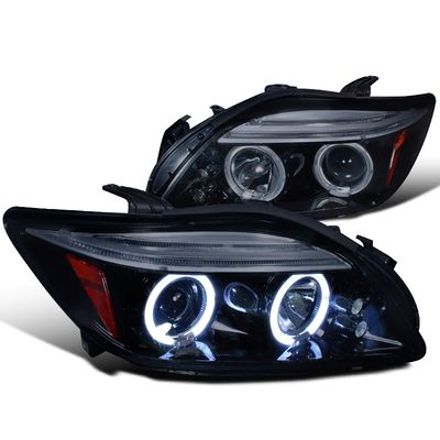 05-07 Scion Tc Angel Eye Halo / LED Projector Headlights - Smoked