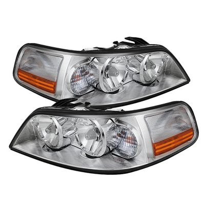 05-11 Lincoln Town Car Crystal Replacement Headlights - Chrome