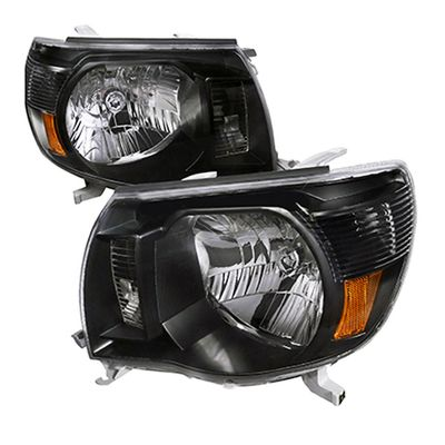 2005-2011 Tacoma Pre/X-Runner 2WD/4WD Crystal Headlights - Black
