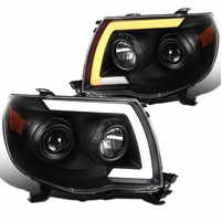05-11 Toyota Tacoma LED DRL / Sequential Signal Projector Headlights - Black