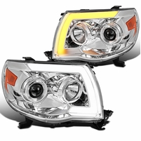 05-11 Toyota Tacoma LED DRL / Sequential Signal Projector Headlights - Chrome