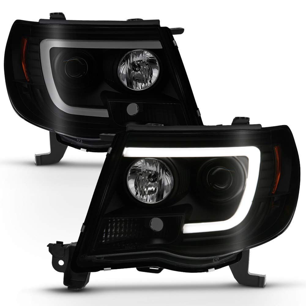 Details about  /Spyder for Toyota Tacoma 05-11 Projector Headlights LED Halo LED Black High H1 L