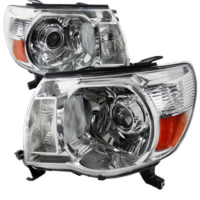 05-11 Toyota Tacoma [Retro Style] Projector Headlights - Chrome