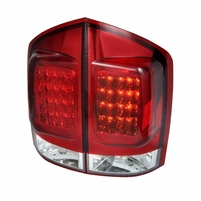 05-12 Nissan Armada Euro Style LED Tail Lights - Red / Clear