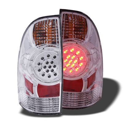 05-12 Toyota Tacoma Euro Style LED Tail Lights - Chrome