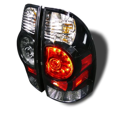 05-12 Toyota Tacoma Pickup Euro Style LED Tail Lights - Black