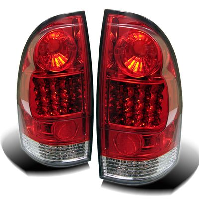 05-12 Toyota Tacoma Pickup  Euro Style LED Tail Lights - Red / Clear ALT-YD-TT05-LED-RC By Spyder