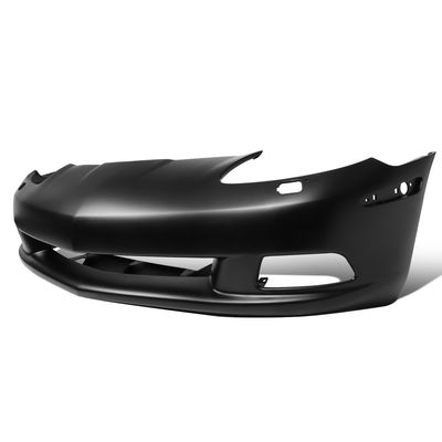 05-13 Chevy Corvette Primered Finish Direct Fitment OE Style Front Bumper Cover W/ Headlight Washer Hole - C6