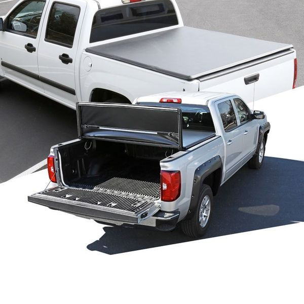05-20 Nissan Frontier Pickup 5Ft Bed Black Tri-Fold Soft Tonneau Cover