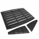 05-14 Ford Mustang Coupe ABS Vintage Style Rear+Quarter Side Window Louvers