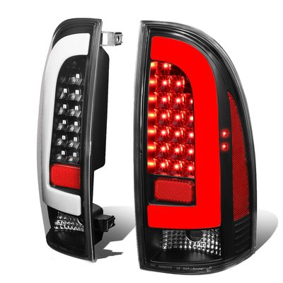 05-15 Toyota Tacoma 3D LED Tube Tail Lights - Black / Clear