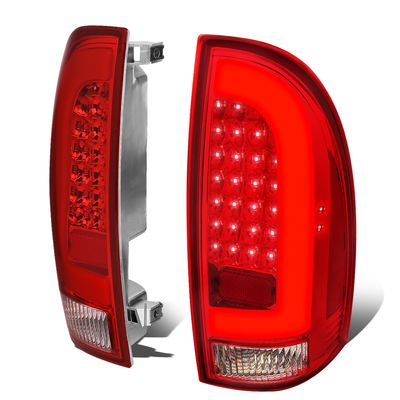 05-15 Toyota Tacoma 3D LED Tube Tail Lights - Red / Clear