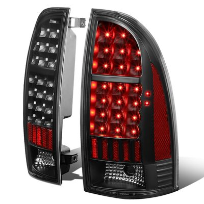05-15 Toyota Tacoma LED Tube Tail Lights - Black / Clear