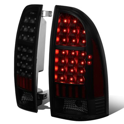 05-15 Toyota Tacoma LED Tube Tail Lights - Black / Smoked