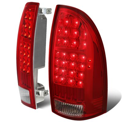 05-15 Toyota Tacoma LED Tube Tail Lights - Red / Clear