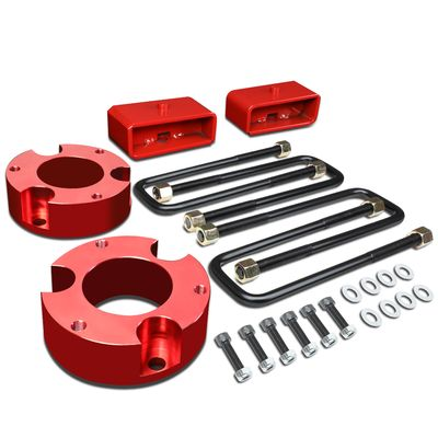 "05-18 Toyota Tacoma 2WD 4WD Red 3"" Front + 2"" Rear Spacers + Blocks Leveling Lift Kit"