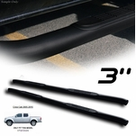 "05-19 Nissan Frontier [Crew Cab] 3"" Round Side Step Nerf Bars Running Board - Matte Satin Black"