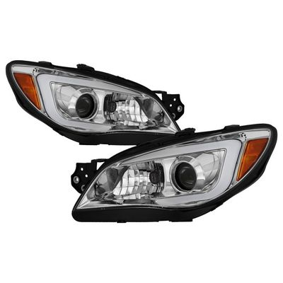 06-07 Subaru Impreza WRX [Halogen Type] LED DRL Projector Headlights - Chrome